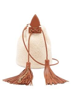 Saint Laurent Anja small shearling bucket bag
