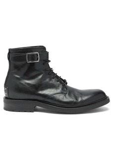 Yves Saint Laurent Saint Laurent Army buckled leather boots