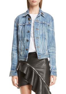 Yves Saint Laurent Saint Laurent Army Patch Denim Jacket