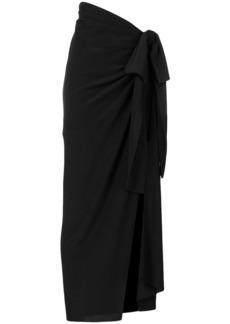 Yves Saint Laurent Saint Laurent asymmetric draped skirt - Black