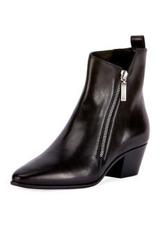 Yves Saint Laurent Saint Laurent Asymmetric-Zip Leather Bootie