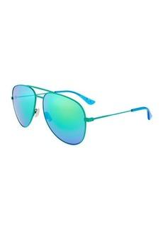Yves Saint Laurent Saint Laurent Aviator Metal Sunglasses