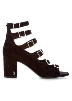 Saint Laurent Babies block-heel suede sandals