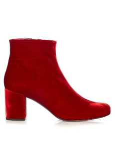 Yves Saint Laurent Saint Laurent Babies block-heel velvet ankle boots