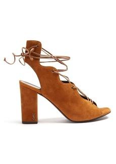 Saint Laurent Babies lace-up suede sandals