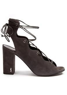 Yves Saint Laurent Saint Laurent Babies lace-up suede sandals
