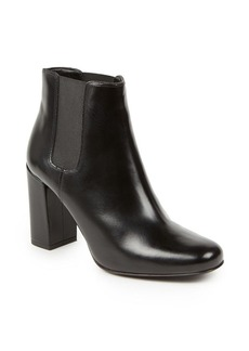 Yves Saint Laurent Saint Laurent Babies Leather Block-Heel Booties