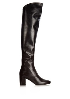 Saint Laurent Babies over-the-knee leather boots