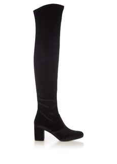 Saint Laurent Babies over-the-knee velvet boots
