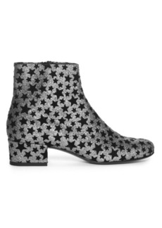 Yves Saint Laurent Saint Laurent Babies star-embellished glitter ankle boots