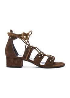 Yves Saint Laurent Saint Laurent Babies Suede Lace Up Sandals