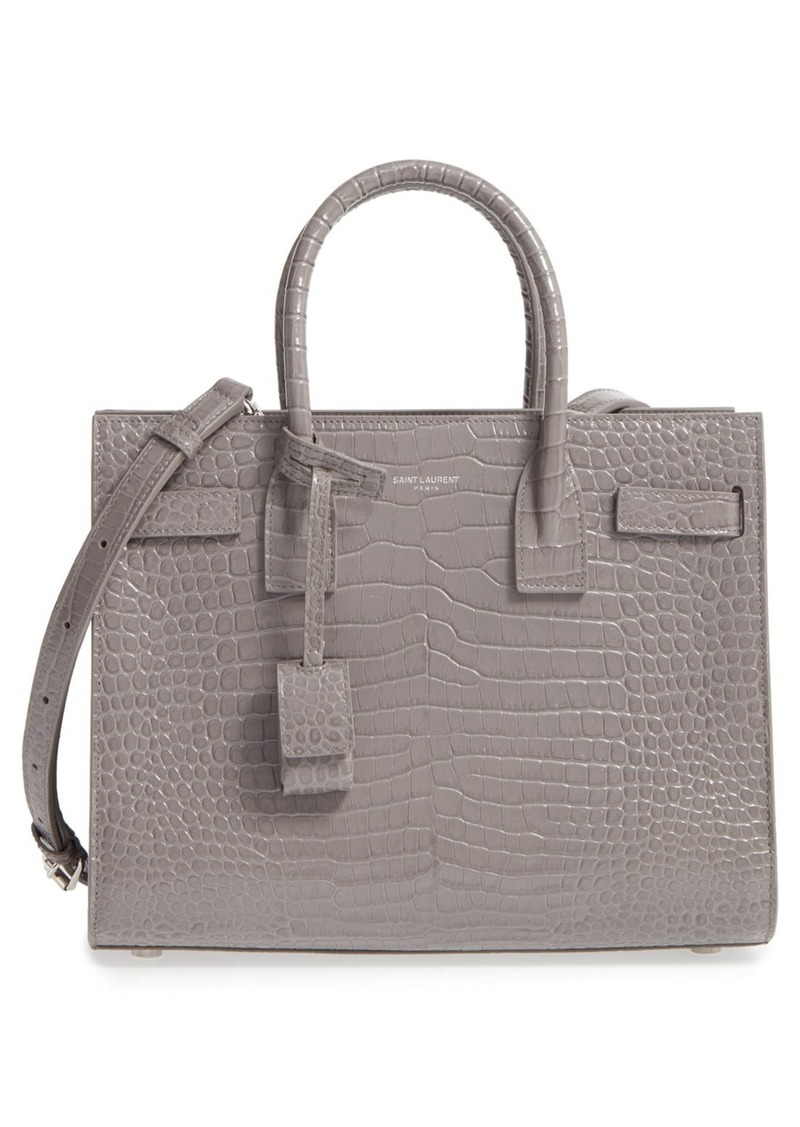 e5d9d9d9160 Saint Laurent Saint Laurent Baby Sac de Jour Croc Embossed Calfskin ...
