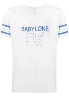 Yves Saint Laurent slogan-print cotton T-shirt