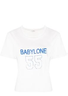 Yves Saint Laurent Saint Laurent Babylone print T-shirt - Nude & Neutrals