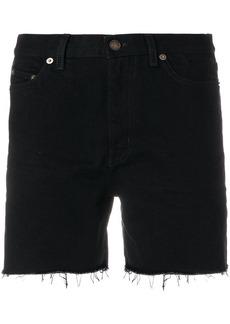 Yves Saint Laurent Saint Laurent baggy denim shorts - Black