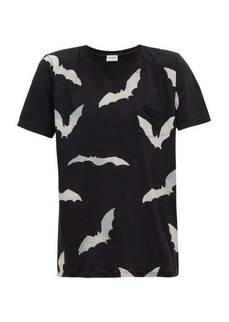 Yves Saint Laurent Saint Laurent Bat-print cotton T-shirt