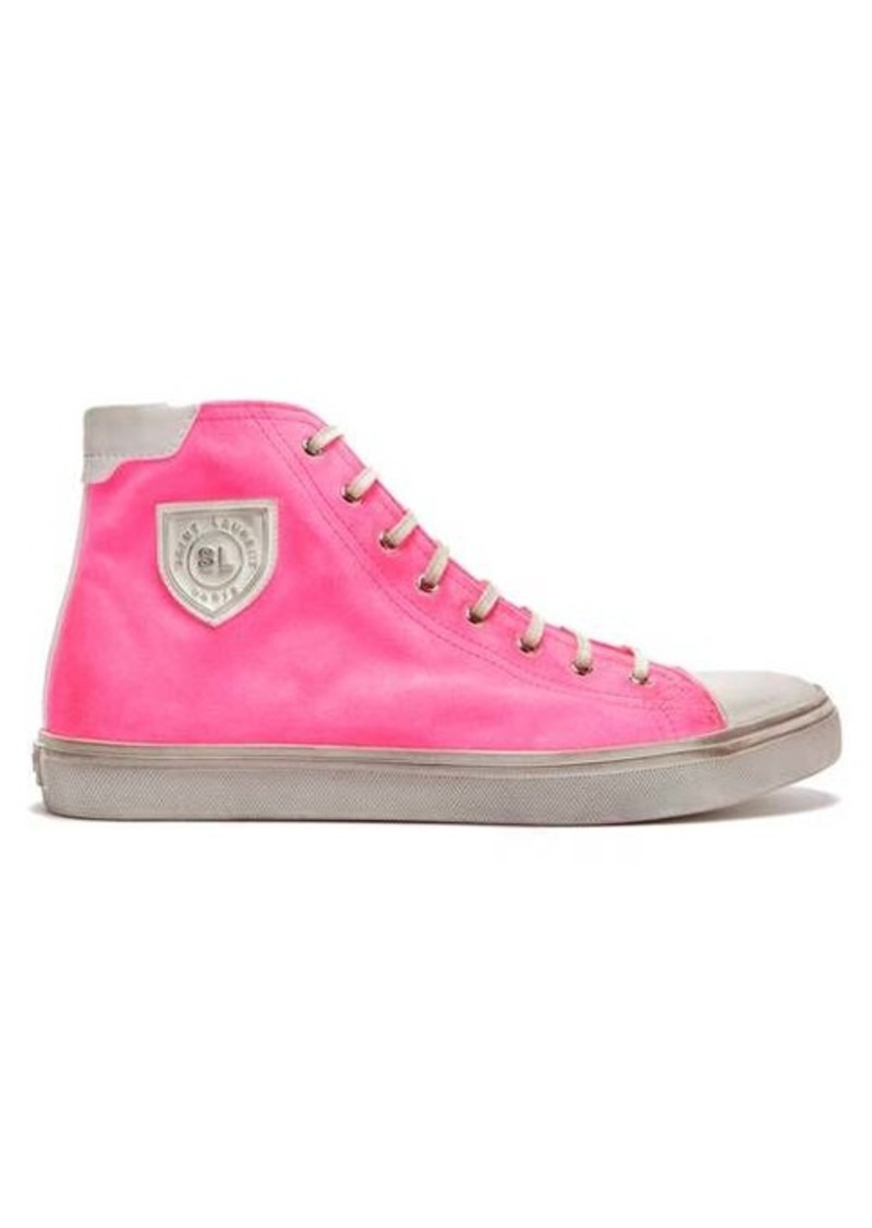 Yves Saint Laurent Saint Laurent Bedford distressed high-top trainers