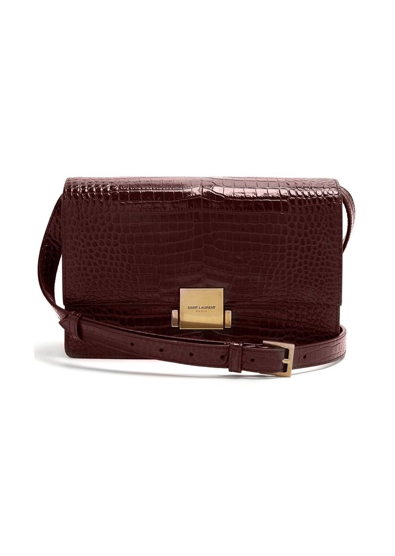 b1e7189609 Saint Laurent Saint Laurent Bellechasse medium crocodile-effect ...