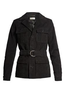 Saint Laurent Belted cotton-blend gabardine jacket
