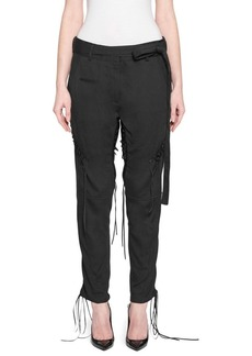 Saint Laurent Belted Lace-Up Army Pants