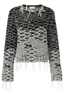 Yves Saint Laurent Saint Laurent berber jacquard sweater - Black