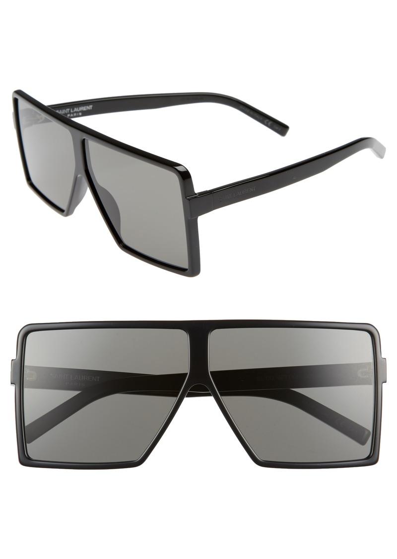 fc61c410d47 Saint Laurent Saint Laurent Betty 63mm Oversize Shield Sunglasses ...