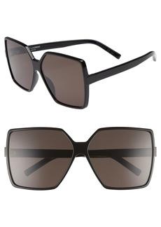 Yves Saint Laurent Saint Laurent Betty 63mm Sunglasses