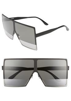 Yves Saint Laurent Saint Laurent Betty 68mm Metal Shield Sunglasses