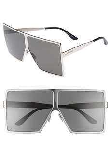 Saint Laurent Betty 68mm Shield Sunglasses