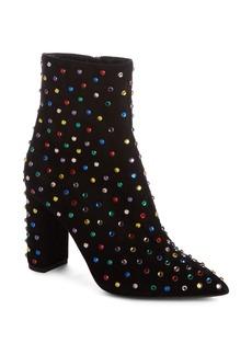 Saint Laurent Betty Crystal Stud Pointy Toe Bootie (Women)
