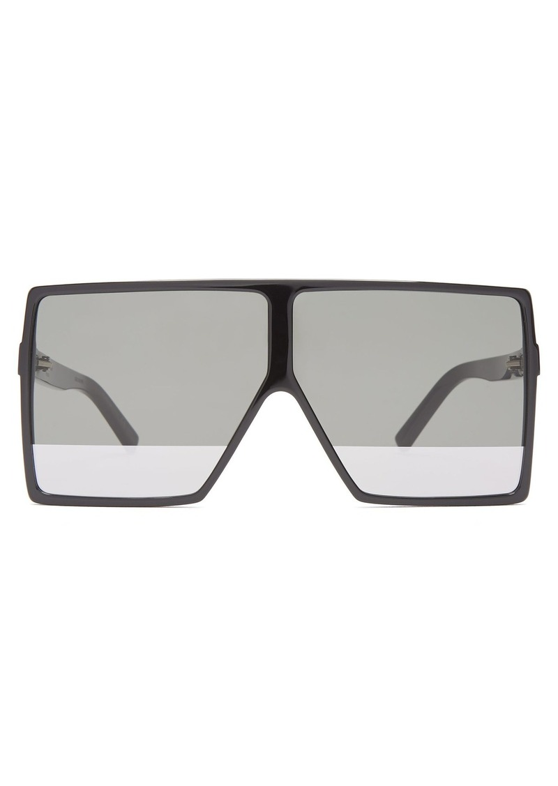 69c6028c97 Saint Laurent Saint Laurent Betty flat-top acetate sunglasses ...