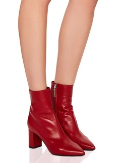 Saint Laurent Betty Leather Heeled Ankle Boots