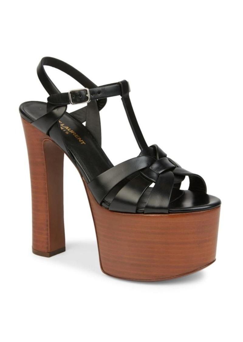 Yves saint laurent platform sandals for Miroir yves saint laurent