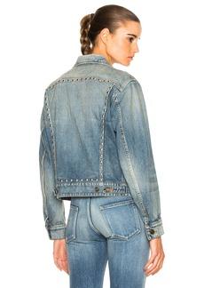 Yves Saint Laurent Saint Laurent BF Studded Denim Jacket