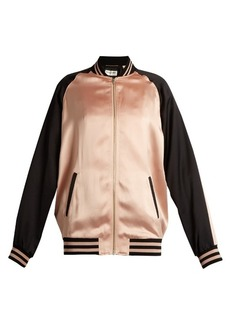 Yves Saint Laurent Saint Laurent Bi-colour satin bomber jacket