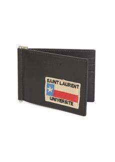 Yves Saint Laurent Bill Clip Leather Wallet