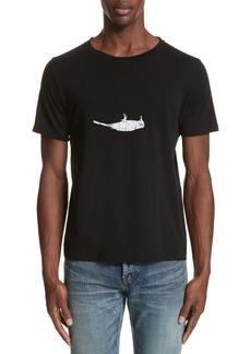 Yves Saint Laurent Saint Laurent Bird Graphic T-Shirt