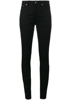 Saint Laurent Black original mid rise skinny jeans