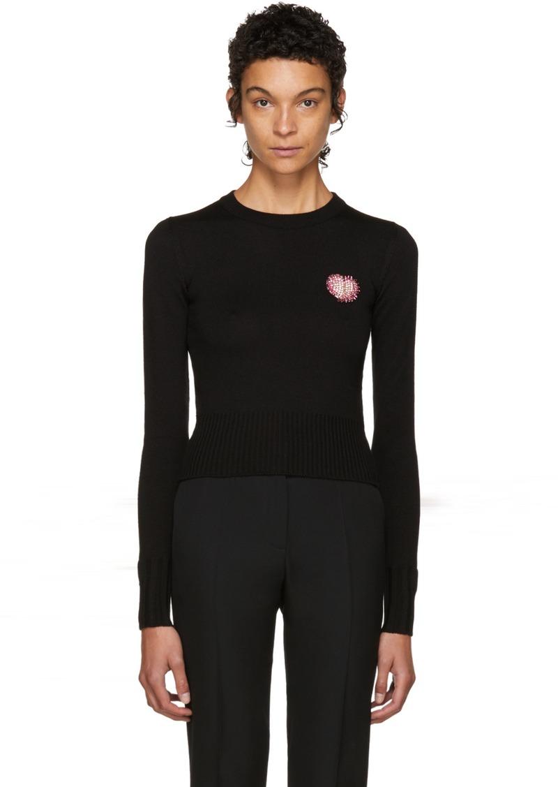 11c8b5a4647 Saint Laurent Saint Laurent Black Swarovski Heart Sweater   Sweaters