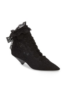 Yves Saint Laurent Saint Laurent Blaze Embellished Pointy Toe Bootie (Women)