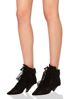 Saint Laurent Lace Blaze Ankle Boots