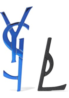 Yves Saint Laurent Blue and glittered black-tone ear cuff
