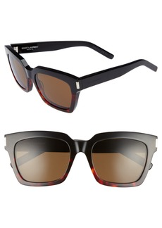 Saint Laurent Bold 1 54mm Square Sunglasses