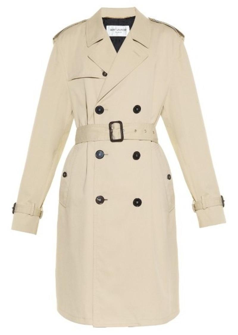 f1adfdbb43 Boyfriend-fit gabardine trench coat