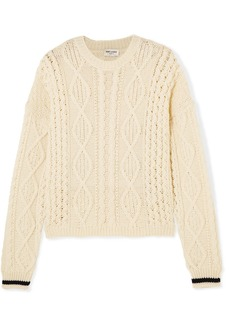 Yves Saint Laurent Cable-knit wool sweater