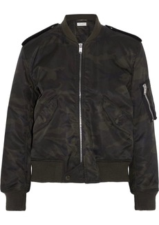 Yves Saint Laurent Saint Laurent Camouflage-print shell bomber jacket