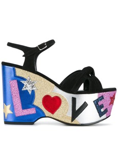 Yves Saint Laurent Saint Laurent Candy 50 Love sandals - Black