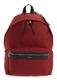 Yves Saint Laurent Saint Laurent Canvas and Leather Trim Backpack