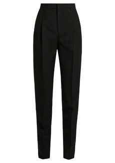 Saint Laurent Carrot-leg gabardine trousers