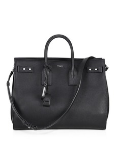 Yves Saint Laurent Carry All Leather Briefcase